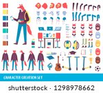 young animal character creation ... | Shutterstock .eps vector #1298978662
