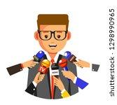 interview or tv press... | Shutterstock .eps vector #1298990965
