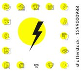 thunderstorm lightning icon.... | Shutterstock .eps vector #1299000988