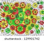 unusual decorative modern...   Shutterstock . vector #129901742
