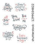 set of valentine's day related... | Shutterstock .eps vector #1299034822