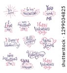 set of valentine's day related... | Shutterstock .eps vector #1299034825