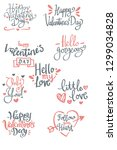 set of valentine's day related... | Shutterstock .eps vector #1299034828