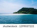 wide shot of aqua crystal clear ... | Shutterstock . vector #1299037222