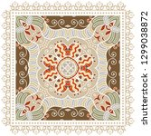 decorative colorful ornament on ... | Shutterstock .eps vector #1299038872