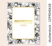invitation greeting card with... | Shutterstock .eps vector #1299040618