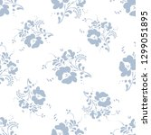 pattern of plants. on a white...   Shutterstock .eps vector #1299051895