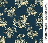 pattern of plants. dark....   Shutterstock .eps vector #1299051898