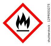 red fire sign on white... | Shutterstock .eps vector #1299053275
