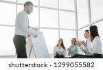 business team applauds the... | Shutterstock . vector #1299055582