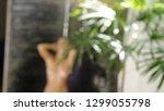 sexy young brunette woman... | Shutterstock . vector #1299055798