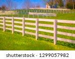 bright white equine fences... | Shutterstock . vector #1299057982
