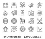fortune telling line icon set.... | Shutterstock .eps vector #1299060688