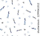 dark blue vector seamless... | Shutterstock .eps vector #1299061312