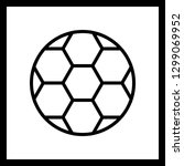 vector football icon  | Shutterstock .eps vector #1299069952