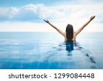 summer vacation concept  asian... | Shutterstock . vector #1299084448