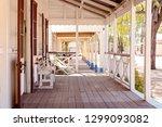 footpath along the verandahs of ... | Shutterstock . vector #1299093082