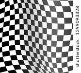 realistic detailed 3d checkered ... | Shutterstock .eps vector #1299093328