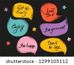 creative textured speech...   Shutterstock .eps vector #1299105112