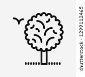 tree forest concept line icon....