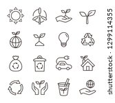ecology eco icon set | Shutterstock .eps vector #1299114355