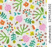 cute seamless pattern with... | Shutterstock .eps vector #1299116302