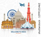 travel in india concept. indian ... | Shutterstock .eps vector #1299121462