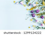 flowers composition. yellow and ... | Shutterstock . vector #1299124222