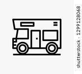 caravan car concept line icon....   Shutterstock .eps vector #1299128068