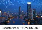 digital network connection... | Shutterstock . vector #1299132802