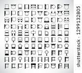 vector set of blank signboard... | Shutterstock .eps vector #1299132805
