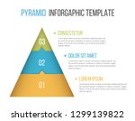 pyramid infographic template...   Shutterstock .eps vector #1299139822