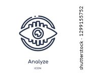 linear analyze icon from... | Shutterstock .eps vector #1299155752