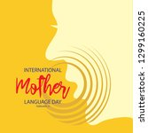 international mother language... | Shutterstock .eps vector #1299160225