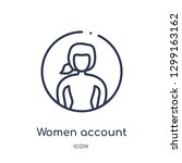 linear women account icon from... | Shutterstock .eps vector #1299163162