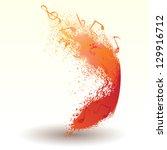 element of splatter and music...   Shutterstock .eps vector #129916712