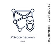 linear private network icon... | Shutterstock .eps vector #1299167752
