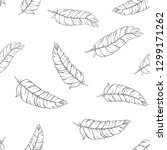 hand drawn feathers. vector...   Shutterstock .eps vector #1299171262