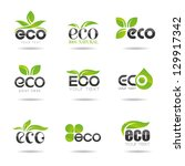 ecology icon set. eco icons 2 | Shutterstock .eps vector #129917342