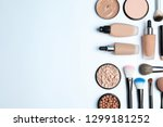 flat lay composition with skin... | Shutterstock . vector #1299181252