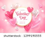happy valentine's day template... | Shutterstock .eps vector #1299190555