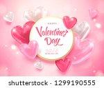 happy valentine's day template... | Shutterstock .eps vector #1299190555