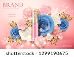 cosmetic spray bottle ads with... | Shutterstock .eps vector #1299190675