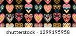 valentine's day. seamless... | Shutterstock .eps vector #1299195958