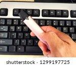 close up image of e cigarette...   Shutterstock . vector #1299197725