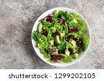 healthy vegan avocado and beet... | Shutterstock . vector #1299202105