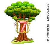 a tree with a number seven... | Shutterstock .eps vector #1299202198