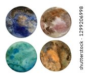 set of colorful planets... | Shutterstock . vector #1299206998