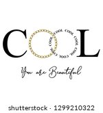 cool you are beautiful for t...   Shutterstock .eps vector #1299210322