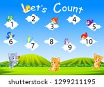 the collection of the number 1... | Shutterstock .eps vector #1299211195